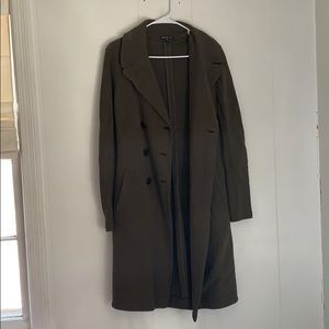 James Perse green trench coat